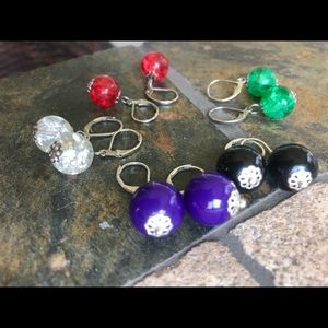 Lever back bead earring set from QVC.